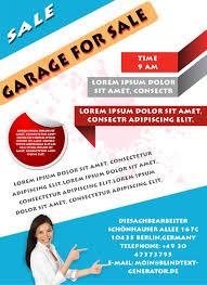 printable garage flyers templates attract more neighborhood garage flyer