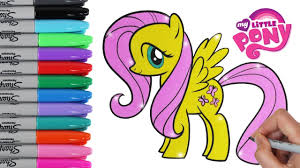 Small Picture My Little Pony Coloring Book Pages Fluttershy MLP Video for Kids