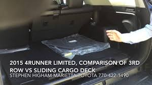 New 2015 4Runner: Comparing 3rd Row Seat to Sliding Cargo Deck, at ...