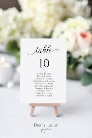 Wedding Seating Chart Cards Template Wedding Table Number Seating Chart Cards Template Editable