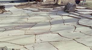 patios made of flagstones 2 major base crushing run gravel with sand concrete concrete base looks clean and neat edging is done by metal aluminum