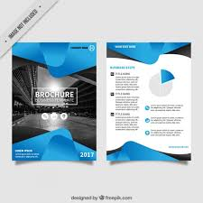 free flayers flyer template with blue abstract forms vector free download