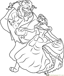 Small Picture Belle and Beast Coloring Page Free Beauty and the Beast Coloring
