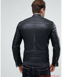 boss orange by hugo boss jeeper leather biker jacket in black fashion front mens jackets i7uoyyihib7l