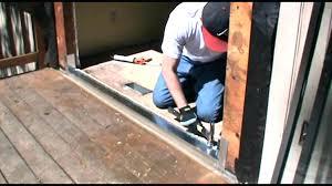 sliding glass door track kit