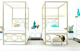 White Canopy Bed Queen Size Wood Twin Be – thelateral.co