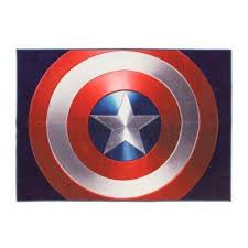 captain america red and blue 5 ft x 7 ft indoor juvenile area rug