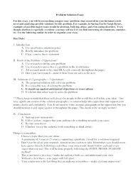 Problem Solution Essay Example Topics Sample Problem Solution Essay