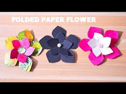 Paper Folded Flower How To Make Paper Folded Flower Diy Folded Flower Origami