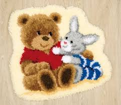 latch hook rug kit teddy bunny