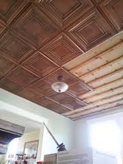 How To Install Decorative Ceiling Tiles Mike's Ceiling After Installing DCT100 Decorative Ceiling Tiles In 63