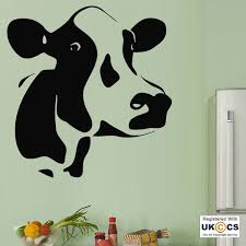 cow head funny farm animals kitchen wall art