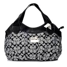 Coach In Signature Medium Grey Hobo BBZ Outlet Clearance Sale