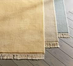 fringed hand loomed rug swatch