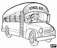 Small Picture Buses coloring pages printable games