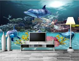 Ocean Wallpaper For Bedroom Custom 3d Wallpaper Underwater World Photo Wallpaper Ocean Wall