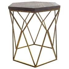 metal accent table. Threshold Accent Table: Metal Hexagon Table With Wood Top (\u20ac64) ❤\u2026 D