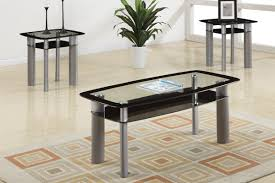 modern black glass coffee table sets stainless steel silver stained varnished square pattern carpet