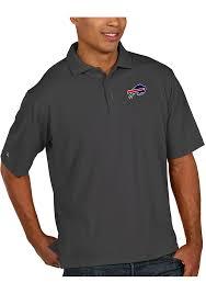 antigua buffalo bills grey pique short sleeve polo shirt