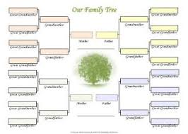 how do family trees work free family trees for three generations of two families printable