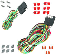 boat trailer wiring kit 25 4 way trailer wiring connection kit flat wire extension harness boat car rv