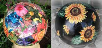Decorated Bowling Balls Garden Art Ball Idea Gallery Empress of Dirt 27