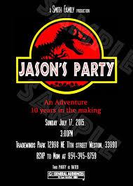 Jurassic Park Invitations Jurassic Park Jurassic World Invitation Jurassic Park
