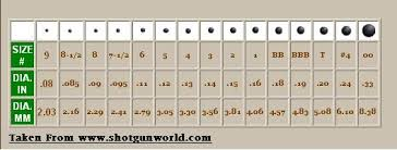 66 Surprising Buckshot Diameter Chart