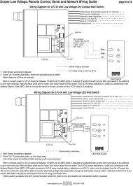 draper low voltage remote control serial and network wiring guide if screen goes down switch red and black wires at switch motor directions will
