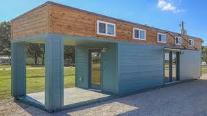 tiny home container with large front porch small house design ideas