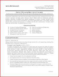Document Controller Resume Sample Camelotarticles Com