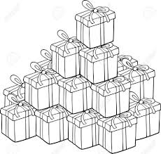 Small Picture Coloring Pages Christmas Present Drawing Christmas Present