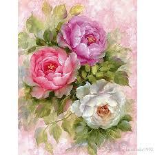 5d flower vase painting designs rose flower full paste cotton square cross stitch home decoration paintings drop flower vase painting designs rose