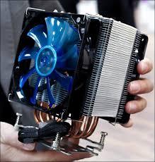 «Живой» снимок прототипа мощного CPU-<b>кулера GELID GX</b>-<b>7</b>