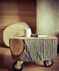 14 adding wheels to a tree trunk awesome tree trunk table 1