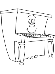Small Picture Piano Music Coloring Pages Coloring Book
