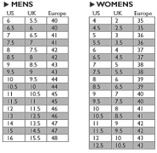 American Foot Size Chart Clothes Stores Shoe Size Conversion Women