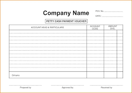 Petty Cash Voucher Slip Template Word – Gamerates.co