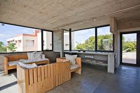 Concrete House With Industrial Features On The Beach By BAK Delectable Modern Industrial Home Decor Decor