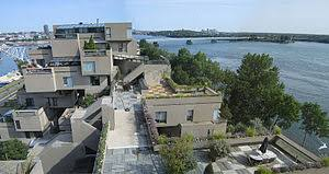 Habitat 67's interlocking forms, connected walkways and landscaped terraces  were key in achieving Safdie's goal of a private and natural environment  within ...