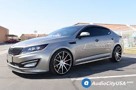 kia optima 2014 blacked out.  Out 2014 KIA Optima On Paragon Wheels Rosso Legacy Gloss Black Machined Rims   By Www With Kia Blacked Out W