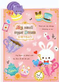 cute cat rabbit cupcake drawing book