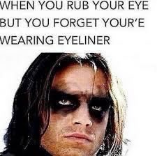 when you rub your eye