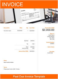 Past Due Invoice Template Free Download Send In Minutes