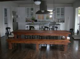 Extra Long Dining Room Tables Dining Room Farmhouse With Bench - Formal farmhouse dining room ideas