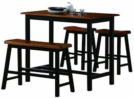 Kitchen Counter Height Tables Amazoncom Crown Mark Tyler 4 Piece Counter Height Table Set
