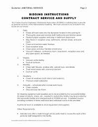 Commercial Cleaning Contract Template Beautiful Mercial Cleaning