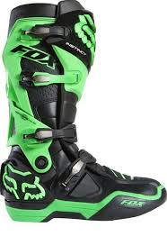 Fox Riding Boots Size Chart Fox Racing 2015 Limited Edition Glo Green Motocross Boots