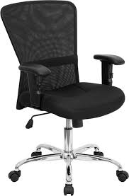 ergonomic home mid back black mesh contemporary swivel task chair with chrome base and height