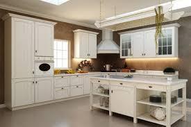 Retro Kitchen Design Ideas L Shaped Cream Finish Mahogany Kitchen